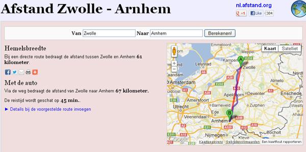 Afstand Zwolle - Arnhem 2012-12-06 22-04-35