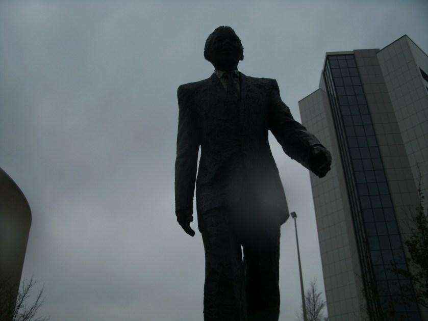 Nelson Mandela op de Johan de Wittlaan.
