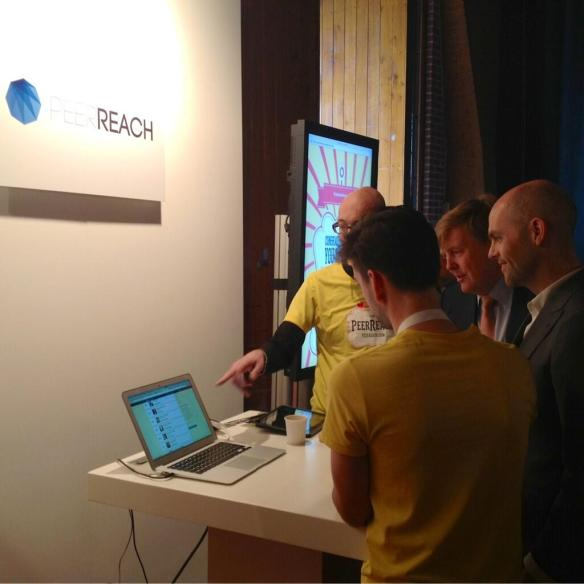 W.A. op TNW Conference at Peer Reach Booth