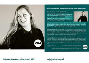 Een argeloze ontvanger zou uit deze flyer kunnen opmaken, dat het CDA voor het open houden van De Kruin aan de Haagse Acaciastraat is. NIets is minder waar.