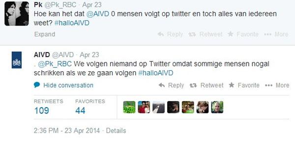 0 volgers AIVD