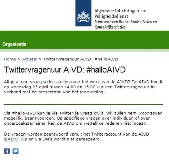 AIVD op Twitter