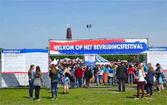 Ingang  bevrijdingsfestival. Foto door Roel Wijnants.