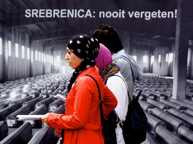 Srebrenica: nooit vergeten! Foto door Roel Wijnants.
