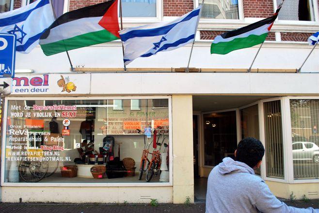 Vlaggen in de Weimarstraat