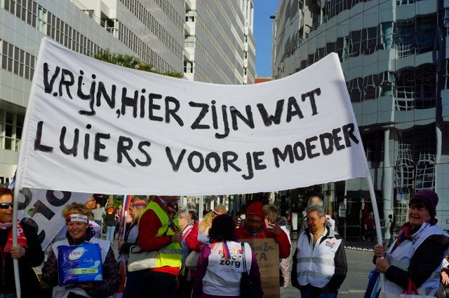 Demonstratie tegen zorgplan kabinet Rutte. Foto door Roel Wijnants