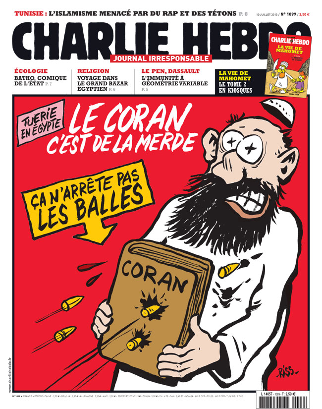 charlie-hebdo-frontpage Koran is shit