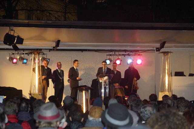 Redevoering. Foto door Roel Wijnants.