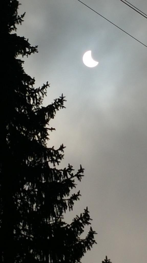 Gedeeltelijke zonsverduistering in Duitsland. Foto: Edith Smal