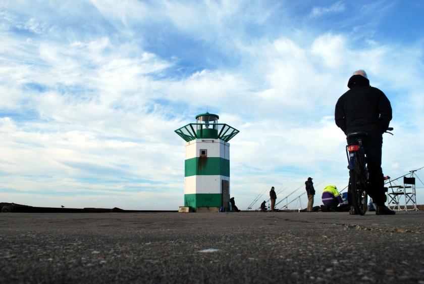 Zuidelijk havenhoofd, Scheveningen. Foto door Ed Gool.