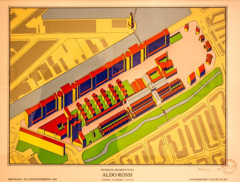 Aldo Rossi plan voor Slachthuisterrein Den Haag