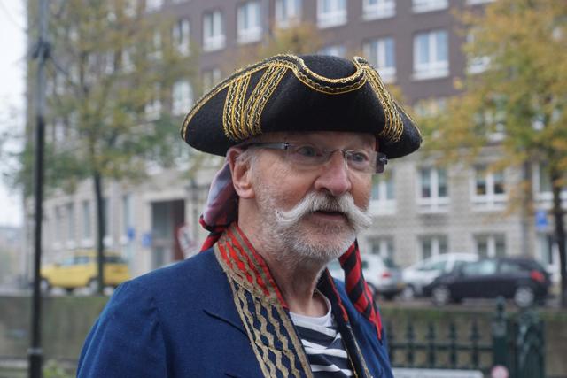 Opa als Piet piraat