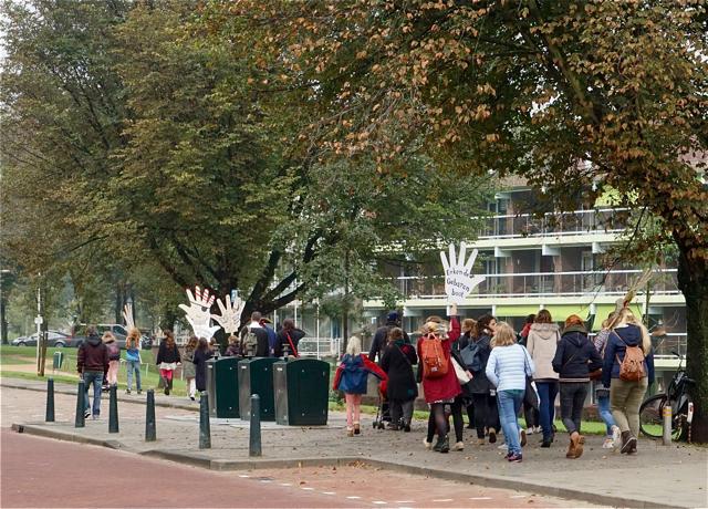 Vanaf einde Haringkade lopent naar de Pier